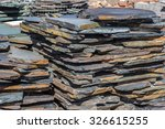 Slabs Of Slate Ready To Be...