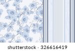two pattern with flowers and... | Shutterstock .eps vector #326616419