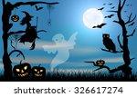 halloween  design  ghost  witch ...   Shutterstock .eps vector #326617274