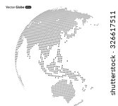 vector abstract dotted globe ... | Shutterstock .eps vector #326617511