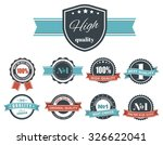 design of labels  tags  logos... | Shutterstock .eps vector #326622041