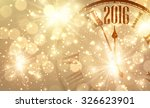 2016 new year shining... | Shutterstock .eps vector #326623901