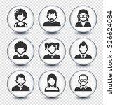 people face set on transparent... | Shutterstock .eps vector #326624084