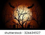 halloween zombie party poster.... | Shutterstock .eps vector #326634527