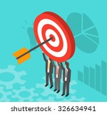 business people holding target... | Shutterstock .eps vector #326634941