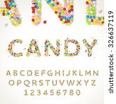 vector font style made of... | Shutterstock .eps vector #326637119