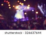 de focused live concert... | Shutterstock . vector #326637644