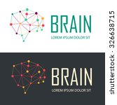 brain logo creative design...
