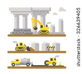 construction site machinery... | Shutterstock .eps vector #326639405