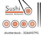 sushi logo templates set.... | Shutterstock .eps vector #326643791