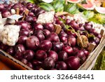Red Onions On The Market