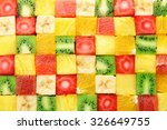 sliced fruits background | Shutterstock . vector #326649755