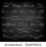 vintage elements and page... | Shutterstock .eps vector #326659631
