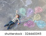 Cute Little Kid Boy Playing An...