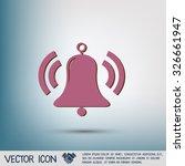 ring bell icon. vector...   Shutterstock .eps vector #326661947