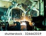 team welding robots represent... | Shutterstock . vector #326662019