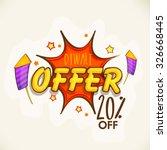 stylish text diwali offer on... | Shutterstock .eps vector #326668445