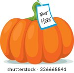 pumpkin with label   vector... | Shutterstock .eps vector #326668841