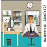 concept of relax and work... | Shutterstock .eps vector #326676929