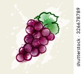 illustration bunch of grapes.... | Shutterstock .eps vector #326678789