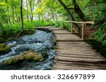plitvice bridge | Shutterstock . vector #326697899