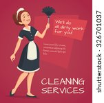 cleaning service advertisement ... | Shutterstock .eps vector #326701037
