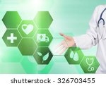 close up of female doctor... | Shutterstock . vector #326703455