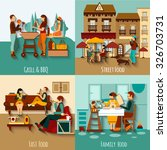 people eating out design... | Shutterstock .eps vector #326703731