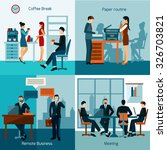 office workers design concept... | Shutterstock .eps vector #326703821