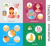 skin treatment concept icons... | Shutterstock .eps vector #326703911