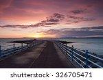 sunset on the pier in morecambe ...   Shutterstock . vector #326705471