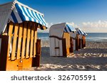 morning on the beach in binz ... | Shutterstock . vector #326705591