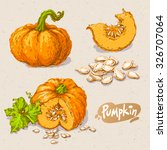 set of hand drawn colored... | Shutterstock .eps vector #326707064
