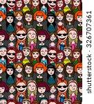 girls and women crowd   cartoon ... | Shutterstock .eps vector #326707361
