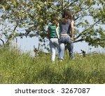 walking girls | Shutterstock . vector #3267087