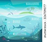 underwater infographics.... | Shutterstock .eps vector #326709077