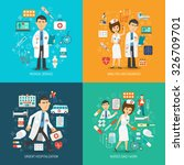 medical care design concept set ... | Shutterstock .eps vector #326709701