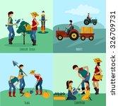 gardening people design concept ...   Shutterstock .eps vector #326709731