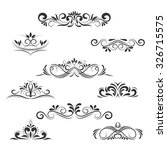 vintage decorative elements ... | Shutterstock . vector #326715575