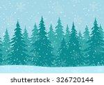 christmas horizontal seamless... | Shutterstock .eps vector #326720144