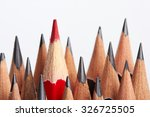 red pencil standing out from...   Shutterstock . vector #326725505