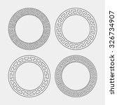 vector set of four round... | Shutterstock .eps vector #326734907