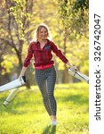 autumn portrait of a happy girl | Shutterstock . vector #326742047