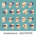 set of the isometric virtual... | Shutterstock .eps vector #326744705