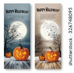 Holiday Halloween Banners With...