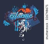 extreme snake | Shutterstock .eps vector #326748671