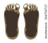 Stock vector bigfoot feet 326753717