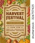 vintage harvest festival poster | Shutterstock . vector #326757425