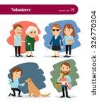 volunteers care for the elderly ...   Shutterstock .eps vector #326770304