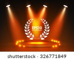shining spotlight   empty scene.... | Shutterstock .eps vector #326771849
